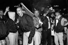 Fulla, heilande skinheads i Lund 30/11 1991