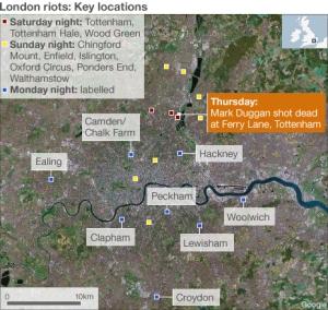 en annan karta över de engelska upproren