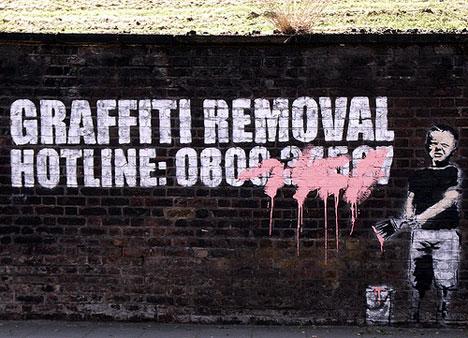 Banksy's kommentar till nolltoleransen