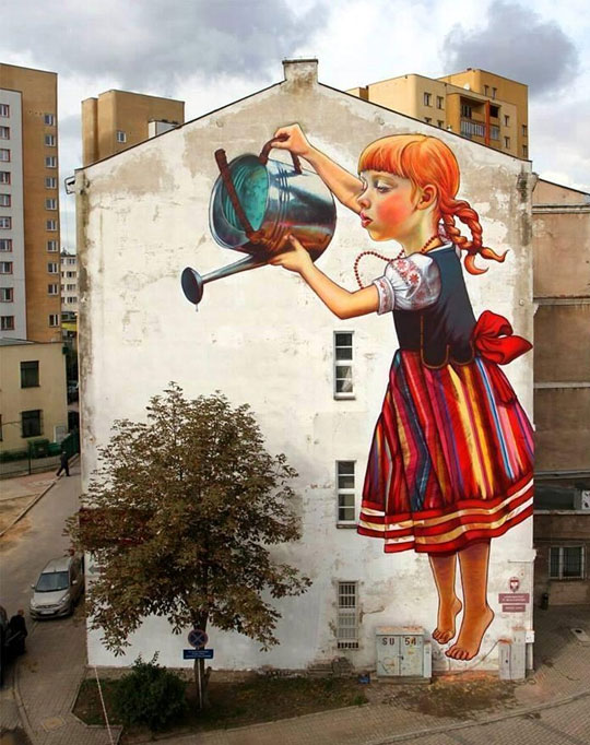 cool-painting-wall-house-girl-sprinkler.jpg