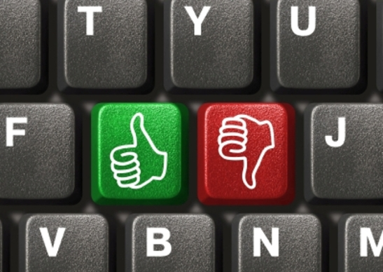 Computer keyboard with two gesturing hands