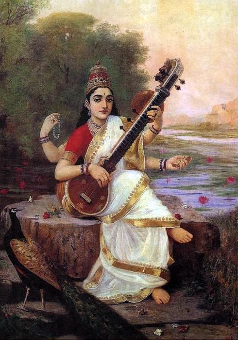 rajaRaviVarma-saraswati-1896