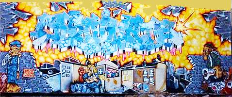 69 by 70 Kess InHouse Infinite Spray Art Enlightening Pink Yellow Shower Curtain